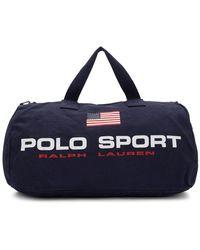 Polo Ralph Lauren ネイビー キャンバス Polo Sport ダッフル バッグ - ブルー