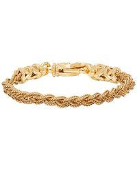 Emanuele Bicocchi Gold Small Braided Bracelet - Metallic