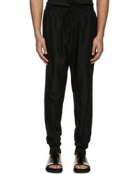 Song For The Mute - Black Slim Track Trousers - Lyst