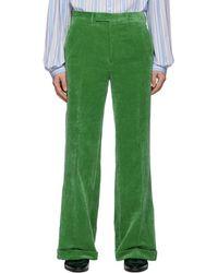 Gucci Green Velvet Pants