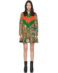Gucci - ブラウン GG スプリーム フラワー ドレス - Lyst