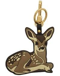Burberry Porte-cles brun 2D Deer - Marron