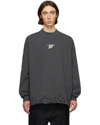 we11done Gray Wd Logo Sweater
