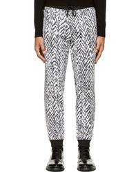 Kris Van Assche - Black & White Chevron Lounge Pants - Lyst