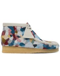 Clarks Bottes chukka multicolores Patchwork Wallabee - Bleu