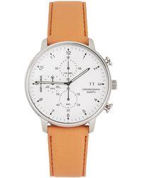 Issey Miyake White & Tan C Model Watch