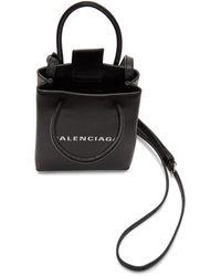 Balenciaga - ブラック ショッピング フォン ホルダー バッグ - Lyst
