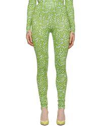 Maisie Wilen Green & Blue Patterned Leggings