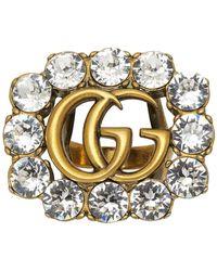 Gucci - ゴールド GG マーモント リング - Lyst