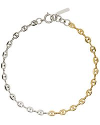 Justine Clenquet Silver And Gold Joy Necklace - Metallic