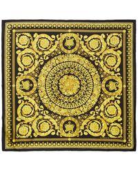 Versace Black Baroque Scarf