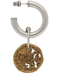 Acne Studios Silver And Gold Coin Single Earring - Metallic