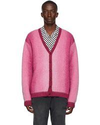 AWAKE NY Pink Mohair Ombre Cardigan