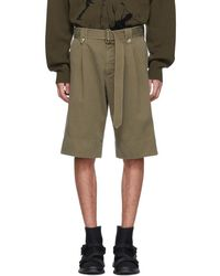 JW Anderson - Khaki Washed Belted Shorts - Lyst