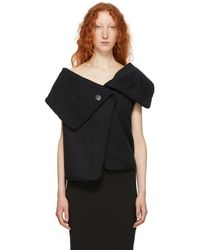 Ann Demeulemeester - Black Lucian Wrap Vest - Lyst