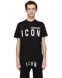 DSquared² ブラック Icon T シャツ