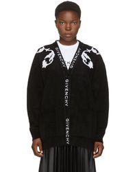Givenchy ブラック フローラル ジャカード カーディガン