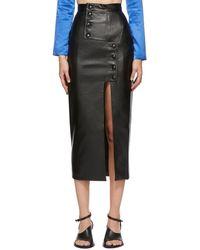 Materiel Tbilisi Black Faux-leather Mid-length Skirt