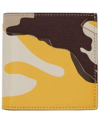 Valentino - Beige And Yellow Garavani Camo Bifold Wallet - Lyst