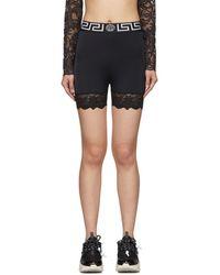Versace ブラック サイクリング ショーツ