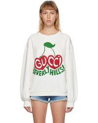 "Gucci - グッチ ""beverly Hills"" チェリー プリント スウェットシャツ - Lyst"