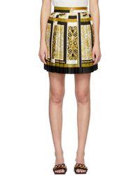 Versace マルチカラー Barocco Mosaic ミニスカート - イエロー