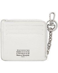 Maison Margiela ホワイト Keychain カード ケース