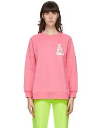 Moschino - Pink Teddy Tulle Sweater - Lyst