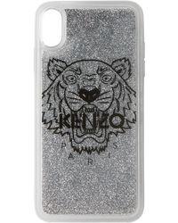 KENZO シルバー タイガー Iphone X+ ケース - メタリック