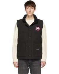 Canada Goose Black Down Freestyle Crew Vest