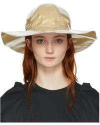 Comme des Garçons - Beige Shirt Bucket Hat - Lyst