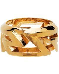 Versace Gold Greca Ring - Metallic