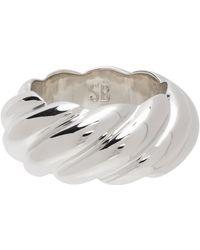Sophie Buhai Large Rope Ring - Metallic