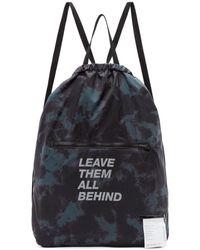 Satisfy - Black And Green Tie-dye Leave Them Behind Gym Backpack - Lyst
