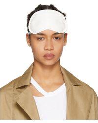 Maison Margiela - White Quilted Nappa Eye Mask - Lyst