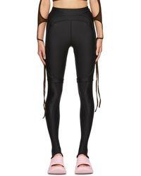 Hyein Seo Ssense Exclusive Rib Sport leggings - Black