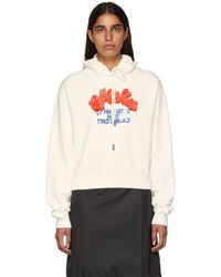 Off-White c/o Virgil Abloh - White Heart Not Troubled Hoodie - Lyst