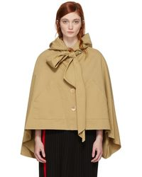 See By Chloé - Brown Desert Bow Cape - Lyst