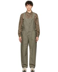 Engineered Garments グリーン Waders ジャンプスーツ