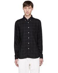 Saturdays NYC - Black Crosby Flannel Shirt - Lyst