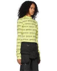 Hood By Air T-shirt à manches longues vert écourté à imprimé - Multicolore