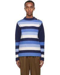 Wales Bonner ネイビー Johnson セーター - ブルー