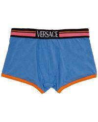 Versace - ブルー ロゴ ボクサー ブリーフ - Lyst