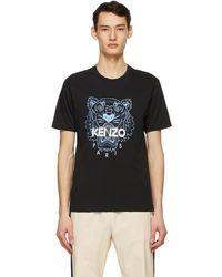KENZO ブラック Tiger T シャツ