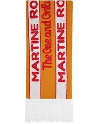 Martine Rose オレンジ And グリーン フットボール マフラー
