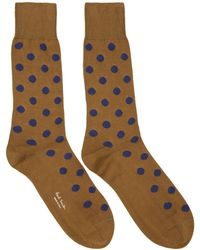 Paul Smith - Brown Bright Polka Dot Socks - Lyst