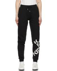 KENZO ブラック Sport Big X ラウンジ パンツ