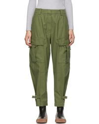 3.1 Phillip Lim - Green Utility Cargo Trousers - Lyst