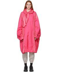 Ambush ピンク オーバーサイズ ポンチョ コート