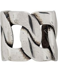 Alexander McQueen - Silver Chain Ear Cuff - Lyst